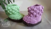 crochet baby booties free pattern