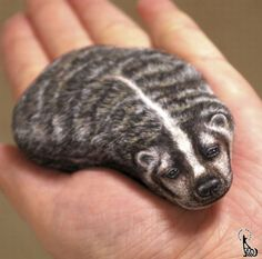 stone art........ American badger