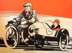 Norton w/Side car Norton Motorcycle, Motorcycle Posters, Motorcycle Art, Sidecar Motorcycle, Classic Motorcycle, Bike Art, Art Deco Posters, Car Posters, Vintage Ads