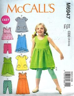 SUMMER CLOTHES PATTERN / Make Girls Dress - Tops - Pants - Shorts / Toddler 2 to Child 8 by WhatCameFirst on Etsy https://www.etsy.com/listing/190111945/summer-clothes-pattern-make-girls-dress