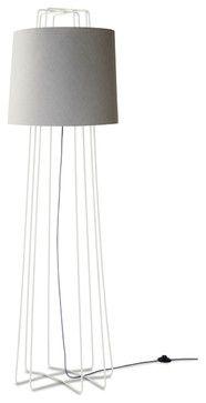 Blu Dot Perimeter Floor Lamp, White / Grey - modern - Floor Lamps - Blu Dot