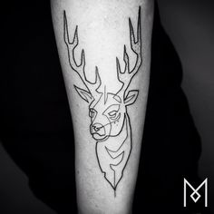 """Mo Ganji is a German-Iranian tattoo artist who has developed a simplistic style that has a high impact. Each of his tattoos appear to be made out of one single line """"My (former) career was based on values I don't believe in."""" hesaid to Tattrx. """"A lot of people are in a similar situation, but nowadays … they'd rather live a 'safe' life with a 'safe' income and they are willing to sell their beliefs and their freedom for it…Painting, drawing and tattooing gives me inner peace, because it…"""