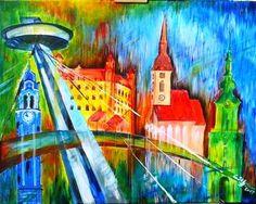 Bratislava, akryl, by Eberika Bratislava, Painting, Art, Art Background, Painting Art, Kunst, Paintings, Performing Arts, Painted Canvas