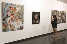 Gallery exhibit. Matinee Mihail Miho Korubin  Korubin  #art #Figurative #paintings #figures #faces #portraits #hands #korubin #mihail #oil #canvas #exhibition