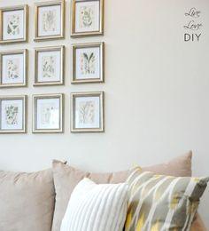 LiveLoveDIY: Creating a Photo Wall Display: Tips & Tricks You Should Know