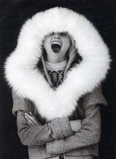 Sasha Pivovarova #furhood #backtofall #editorial