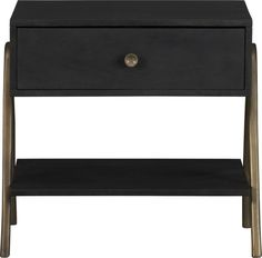 "James Nightstand  | Crate and Barrel Overall DimensionsWidth: 24"" Depth: 17"" Height: 21.75""  - $199"