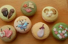 Japanese style macarons.. by Ble Nature