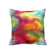 Ravishing Rainbow Bokeh Print Throw Pillows
