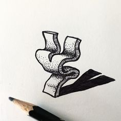 the #power of #lettering - the #character by @rylsee looks like a living creature #handmadefont
