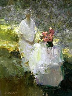 ⊰ Posing with Posies ⊱ paintings of women and flowers - Dan McCaw