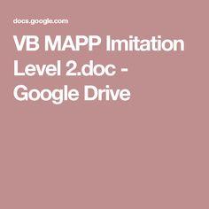 VB MAPP Imitation Level 2.doc - Google Drive