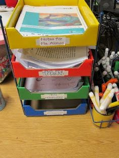 Great idea for organizing the classroom! #Lakeshore #Learning