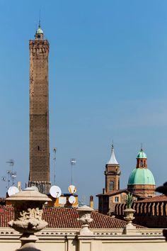 Bologna, an unusual sightseeing on the Asinelli Tower from a Noble Palace in the centre of Bologna. Picture by Marco Colombari