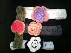 Mine Crochet headband with flower