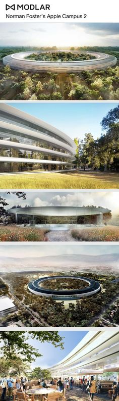 The Apple Campus 2 by Sir Norman Foster + Partners. #Apple #Foster #Architecture #USA