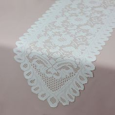 Ivory Lace Table Runner 13 Inches X 96 Inches