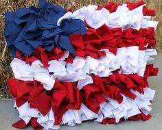 Patriotic ruffle pillow