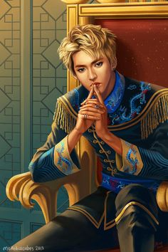 Kriscasso wishing he draws as well as his fan. Emperor!WuYiFan by meltedicecubes