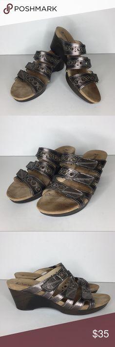 fca66f35f74ac Romika Metallic Waikiki Sandals Comfort Romika Womens Size EU 40 US 9.5-10  Metallic Waikiki