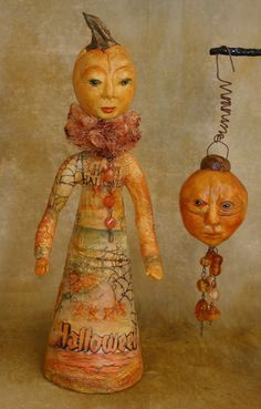 Pumpkinhead doll and ornament by Bonnie Jones for Halloween...found on http://bonniejones.typepad.com/