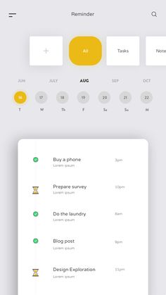 Reminder App by Anupama Mishra We develop a fabulous, professional-looking health care and medical websites with forms, maps, and picture galleries plus more. App Design, Ui Design Mobile, Calendar Ui, To Do App, Card Ui, Ui Design Inspiration, Application Design, Interface Design, User Interface