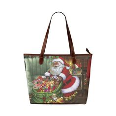 Santa Claus brings the gifts to you Shoulder Tote Bag (Model Bring It On, Santa, Tote Bag, Shoulder, Model, Gifts, Bags, Handbags, Favors