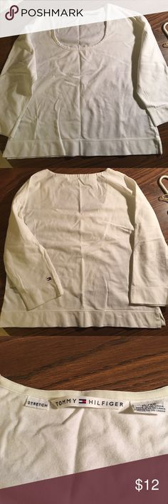Tommy Hilfiger top Tommy Hilfiger top. Great basic tee. Good condition. Size XL. Tommy Hilfiger Tops Tees - Long Sleeve