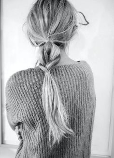 Simple low pony with a twist.  - Want more hair inspo? - http://dropdeadgorgeousdaily.com/category/beauty-2/hair-styles-beauty-2/ #hair #braids #plaits #easy