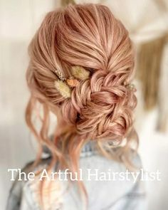 Medium Hair Braids, Braids For Long Hair, Bridal Hair Updo, Wedding Hair And Makeup, Boho Hairstyles, Wedding Hairstyles, Hair Upstyles, Front Hair Styles, Bridesmaid Hair