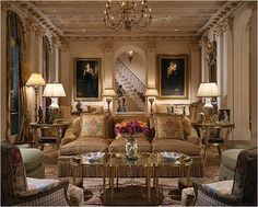 Photos of glamour classic living room interior design - Interior Design Classic Living Room, Home Living Room, Modern Living, Interior Design Living Room, Living Room Designs, Bathroom Interior, Living Room Decor Traditional, Traditional Fireplace, Arquitetura