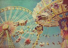 Carnival ride photo swings ferris wheel fair summer by elgarboart Carnival Photography, Art Photography, Vintage Photography, Carrousel, Carnival Rides, Fun Fair, Vintage Carnival, Vintage Circus, Pics Art