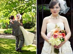 beautiful bouquet!    Georgia Vintage Handmade Wedding: Britney + Mark