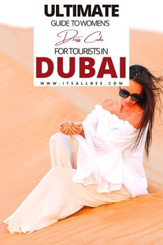 A complete guide to the Dubai dress code for women. Tips on what to pack and what to wear on the beach, malls, Dubai desert safari and tourist sights. #uae #dubai #women #fashion #packinglist #DubaiTravel #itsallbee | Dubai What To Wear In Summer | Dubai  What To Wear In March | Dubai Fashion Women | Dubai Fashion What To Wear In | Dubai  Fashion women Street Styles | Dubai  fashion women Outfits | Dubai  Fashion Women Dresses | Dubai  Packing List | Dubai Packing List Summer