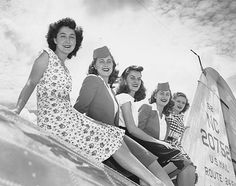 Delta Air Lines Stewardesses, Atlanta Municipal Airport, August 25, 1946
