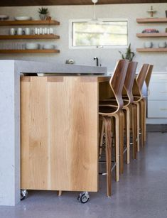 Consider Installing Kitchen Islands To Go With Your Unique Kitchen Design – Home Dcorz Round Kitchen Island, Kitchen Island With Stove, Rolling Kitchen Island, Kitchen Islands, Kitchen Reno, Classic White Kitchen, All White Kitchen, Yellow Kitchen Designs, Bar Dining Table