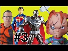 #3 Steel  Deadpool The Flash Super Homem  Chucky Batman Imaginext DC Com...