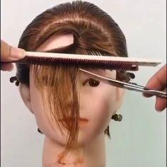 Hair Cutting Videos, Hair Cutting Techniques, Hair Videos, Short Hair With Layers, Short Hair Cuts, How To Cut Bangs, Hair Up Styles, Hair Color And Cut, Toddler Hair