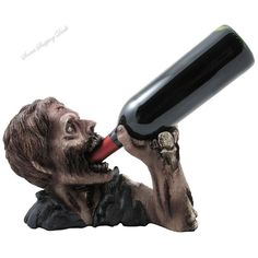 Halloween Decoration Graveyard Zombie Wine Bottle Holder Statue Funny Gifts  #HomenGifts