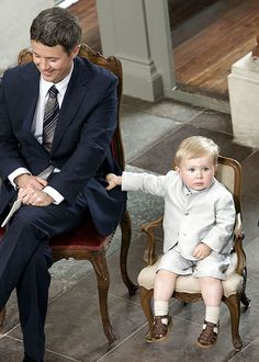 """gabriellademonaco: """"Prince Christian of Denmark at the christening of his younger sister, Princess Isabella (2007) """""""