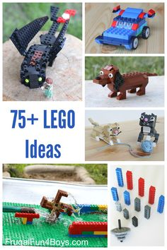 Over 75 fun LEGO building ideas for kids!  Dogs, minions, building challenges for kids. LEGO club ideas.