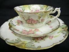 *~*❤*~*❤❤❤*~*❤❤❤*~*❤❤❤*~*❤*~*  Careworn Victorian tea cup saucer & plate  *~*❤*~*❤❤❤*~*❤❤❤*~*❤❤❤*~*❤*~*