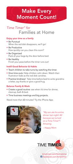 Time Timer Tips for Families #timemanagement