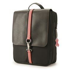 Women's Komen Paris Backpack. It features a built-in computer protection compartment along with a separate section dedicated to files, books, and magazines. Perfect for the female professional or serious college student, the Paris Backpack's comfortable functionality is disguised by its stylish flair. This special handbag is part of our Caring Case Collection. Mobile Edge donates 10% of the retail price to The Susan G. Komen Breast Cancer Foundation so it is also a great way to help those in…