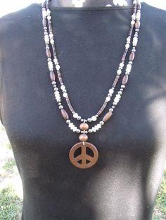 elegant peace sign necklace  $16.95  www.etsy.com/shop/meandjpsjewelry