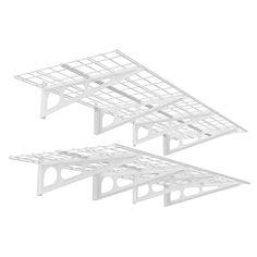 FLEXIMOUNTS 2Pack 2x6ft 24inchby72inch Wall Shelf Garage Storage Rack Floating Shelves White