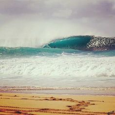 Another winter day on the North Shore of Oahu.