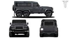 Kahn Design Flying Huntsman is a Six-Wheeled Land Rover Defender - Car News HQ Landrover Defender, Defender Car, Land Rover Defender 110, Mercedes Benz G63, Mercedes G Class, Land Rovers, Gq, Kahn Design, G 63 Amg