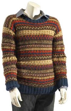 Sweater, knit, pattern, crewneck pullover sweater