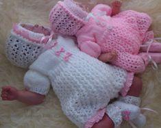 Baby Knitting Pattern Baby Girl PDF by PreciousNewbornKnits